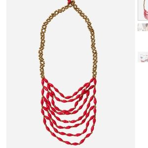 Latifa Red Paper Bead necklace